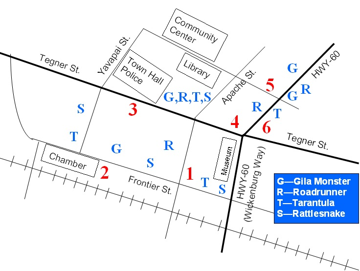 Map of Sculptures
